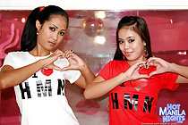 LBFM teens Amanda and Sarah play together and fuck white guy