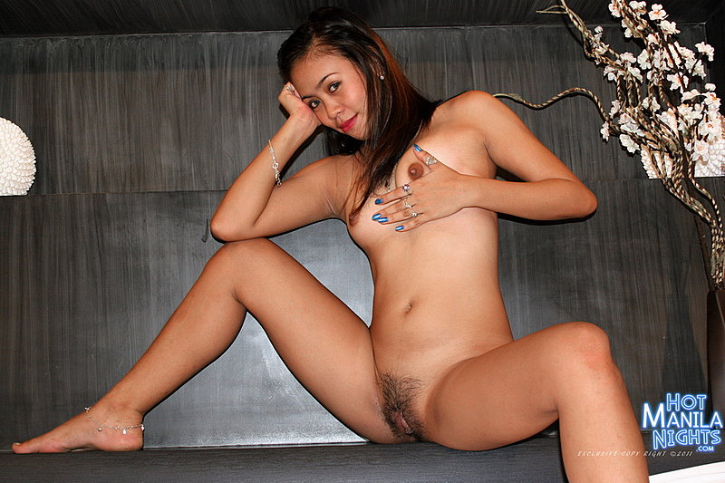 Filipina girl legs spread nude