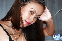 Sarah strips underwear and spreads her legs