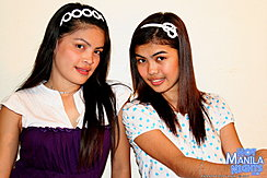 Abbie And Phey Seated Together Hair Bands Long Hair