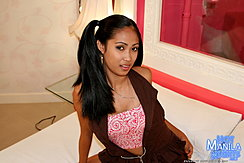 Amanda  Seated Long Hair In Lavish Pigtail Over Her Shoulder