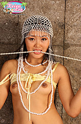 Playing With Beads Small Breasts