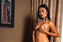 Filipina Keira Lee Stripping Underwear And Baring Pert Tits