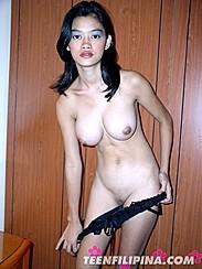 Chua Alma Big Pinay Breasts Baring Shaved Pussy