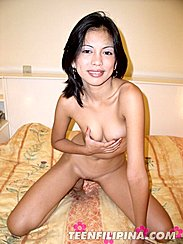 Kneeling Naked Squeezing Tits