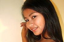 Long haired cute Filipina Analyn Tayao posing nude