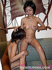 May Seated Naked Danica Looks At May Shaved Pussy