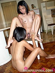 Filipina Lesbians Going Down
