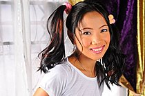 Filipina Teen Eloisa Geres Strips Pink Shorts In Pigtails