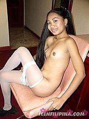 Legs Crossed Erect Nipples Holding Onto Seat