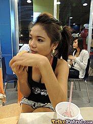 Filipina Shantal In Cafe