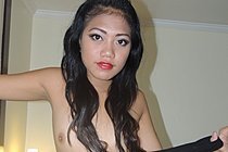 Cloe Strips Little Black Dress And Reveals Her Shaved Pussy