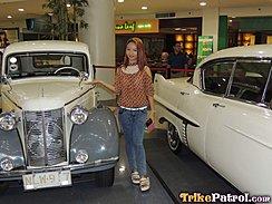 Ayumi Posing With Vintage Cars