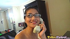 Talking On Telephone Wearing Glasses