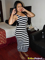 Rizza Barefoot In Striped Dress